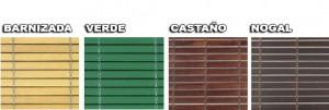 Persianas Alicantinas Colores