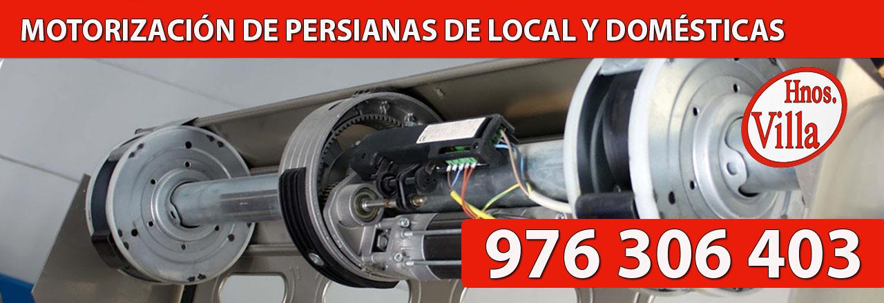 Motorización Persianas Hogar y Comerciales en Zaragoza