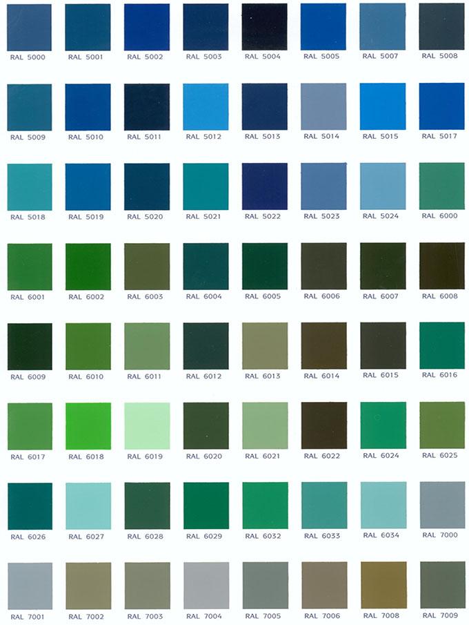 Colores carta ral 2