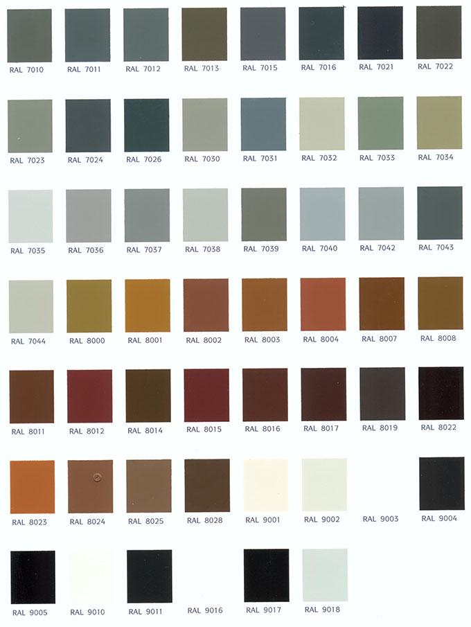 Colores carta ral 3